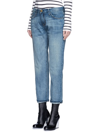 Front View - Click To Enlarge - Current/Elliott - 'The Boyfriend' straight leg cropped jeans