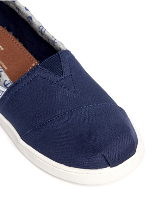 Detail View - Click To Enlarge -  - Youth Bimini anchor print canvas kids slip-ons