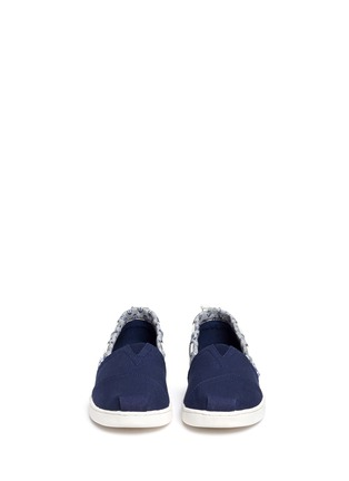 Figure View - Click To Enlarge -  - Youth Bimini anchor print canvas kids slip-ons