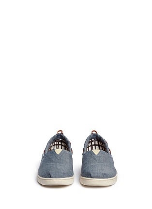 Figure View - Click To Enlarge -  - Youth Bimini chambray kids slip-ons