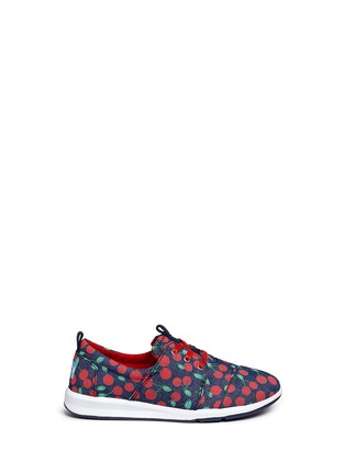 Main View - Click To Enlarge -  - Youth Del Rey cherry print denim kid sneakers