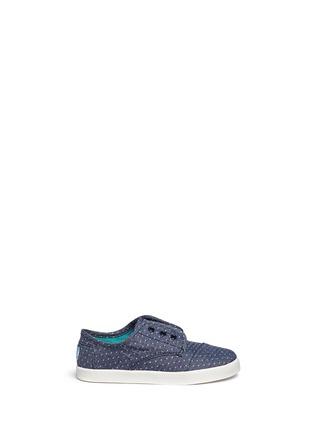 70573 - TOMS-Tiny Paseo dot print chambray toddler slip-ons