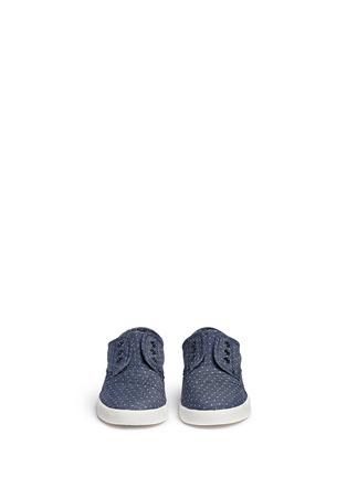 TOMS-Tiny Paseo dot print chambray toddler slip-ons