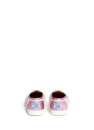 Back View - Click To Enlarge -  - Youth Classic glitter stripe woven kids slip-ons