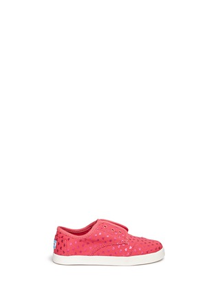 Main View - Click To Enlarge -  - Tiny Paseo heart print canvas toddler slip-ons