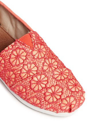 Detail View - Click To Enlarge -  - Youth Classic glitter crochet kids slip-ons