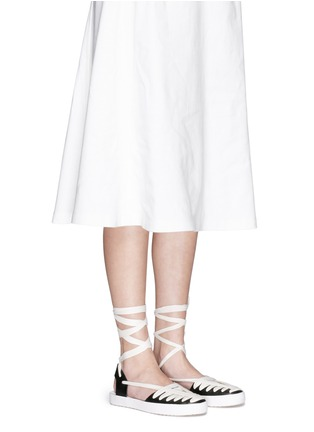 Figure View - Click To Enlarge - 10 Crosby Derek Lam - 'Leon' strappy ribbon ankle tie leather flats
