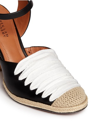 Detail View - Click To Enlarge - 10 Crosby Derek Lam - 'Sasha' strappy ribbon leather espadrille sandals