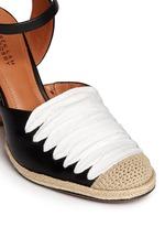 'Sasha' strappy ribbon leather espadrille sandals