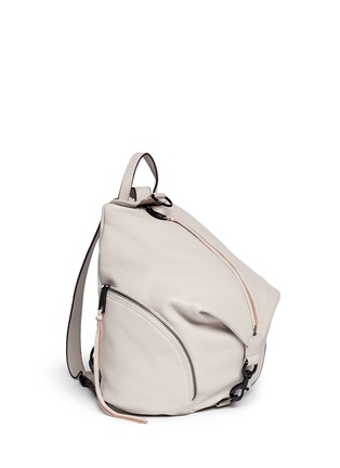 Front View - Click To Enlarge - Rebecca Minkoff - 'Julian' pebbled leather backpack