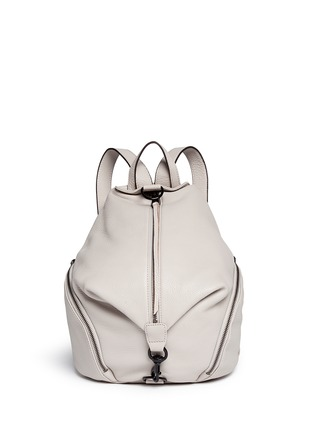 Main View - Click To Enlarge - Rebecca Minkoff - 'Julian' pebbled leather backpack