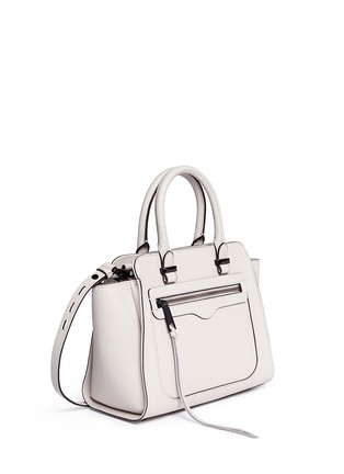 Front View - Click To Enlarge - Rebecca Minkoff - 'Avery' mini saffiano leather tote bag