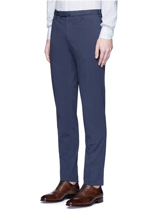 Front View - Click To Enlarge - Incotex - Slim fit cotton chinos