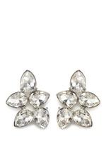 Teardrop crystal cluster stud earrings