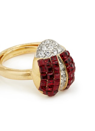 Detail View - Click To Enlarge - Kenneth Jay Lane - Ladybug glass crystal ring
