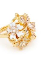 花卉造型仿水晶珍珠戒指