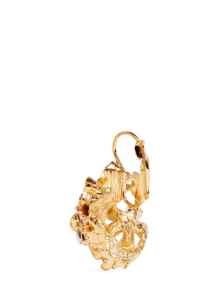 Detail View - Click To Enlarge - Kenneth Jay Lane - Crystal pavé flower bug drop earrings