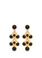 Bead chandelier drop earrings