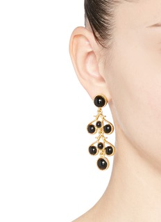 Kenneth Jay Lane Bead chandelier drop earrings