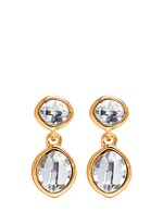 Faceted crystal drop earrings
