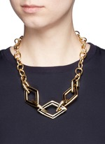 Rhombus link chain necklace