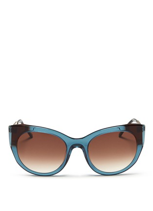 Main View - Click To Enlarge - Thierry Lasry - 'Bunny' matte temple acetate cat eye sunglasses