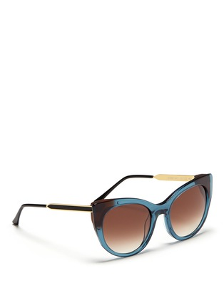 Figure View - Click To Enlarge - Thierry Lasry - 'Bunny' matte temple acetate cat eye sunglasses