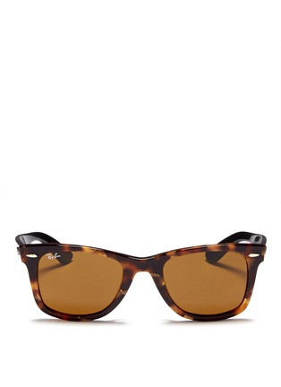 Main View - Click To Enlarge - Ray-Ban - 'Original Wayfarer' contrast temple acetate sunglasses