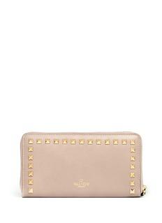 VALENTINORockstud zip-aound wallet