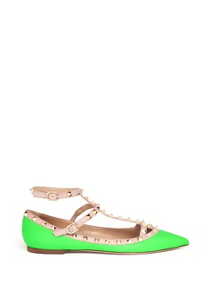 VALENTINO Rockstud caged leather flats