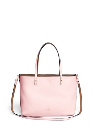 Back View - Click To Enlarge - Valentino - 'Rockstud' small reversible leather tote