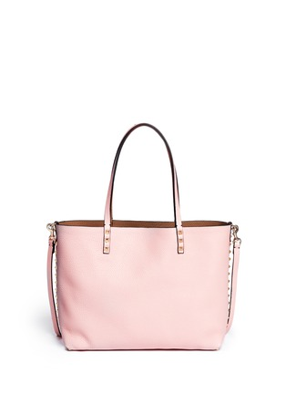 Main View - Click To Enlarge - Valentino - 'Rockstud' small reversible leather tote