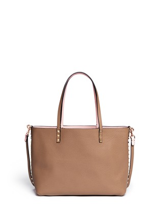 Figure View - Click To Enlarge - Valentino - 'Rockstud' small reversible leather tote