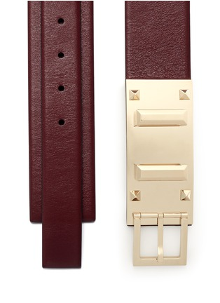 Detail View - Click To Enlarge - Valentino - Rockstud buckle leather belt