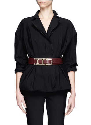 Figure View - Click To Enlarge - Valentino - Rockstud buckle leather belt