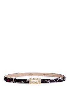 VALENTINORockstud buckle calf hair skinny belt