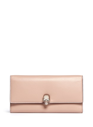 Main View - Click To Enlarge - Alexander McQueen - Skull clasp continental leather wallet