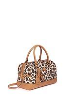 'Kerrington' leopard print Boston satchel
