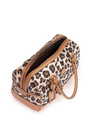 Detail View - Click To Enlarge - Tory Burch - 'Kerrington' leopard print Boston satchel