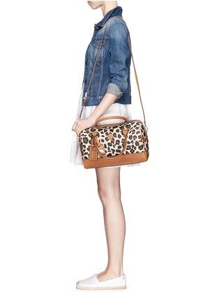 - Tory Burch - 'Kerrington' leopard print Boston satchel