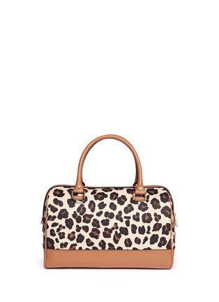 Back View - Click To Enlarge - Tory Burch - 'Kerrington' leopard print Boston satchel
