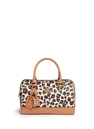 Main View - Click To Enlarge - Tory Burch - 'Kerrington' leopard print Boston satchel