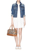 TORY BURCH 'Kerrington' leopard print Boston satchel