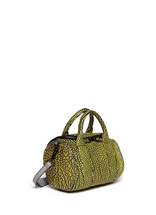 Front View - Click To Enlarge - Alexander Wang  - 'Rockie' brush leather duffle