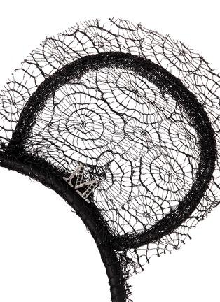 Detail View - Click To Enlarge - Maison Michel - 'Heidi' lace bear ear headband