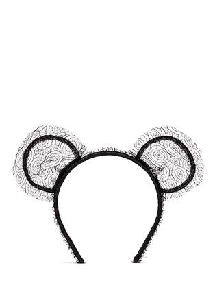 Main View - Click To Enlarge - Maison Michel - 'Heidi' lace bear ear headband