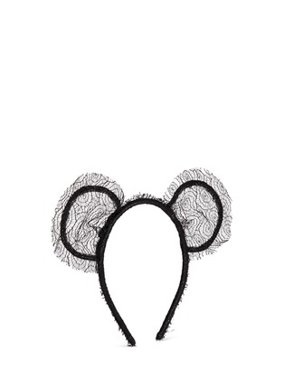 Figure View - Click To Enlarge - Maison Michel - 'Heidi' lace bear ear headband