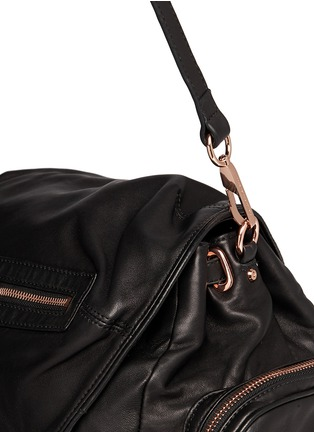 Detail View - Click To Enlarge - Alexander Wang  - Marti' washed leather backpack