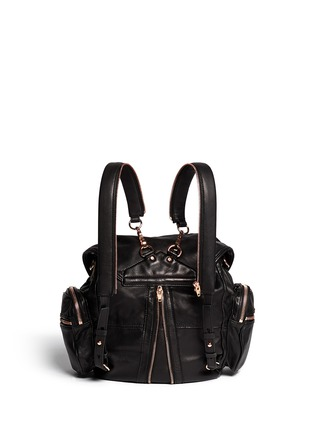 Back View - Click To Enlarge - Alexander Wang  - Marti' washed leather backpack