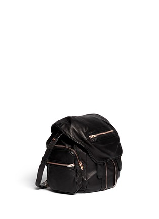Front View - Click To Enlarge - Alexander Wang  - Marti' washed leather backpack